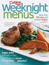 Weeknight Menus cookbook cover image