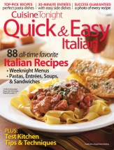Quick & Easy Italian cookbook cover image