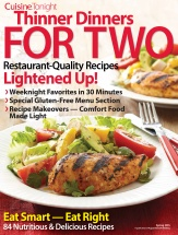 Thinner Dinners for Two cookbook cover image