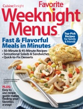 Favorite Weeknight Menus cookbook cover image