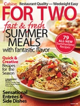 Cuisine for Two: Fast & Fresh Summer Meals cookbook cover image