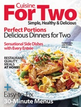 Cuisine For Two: Simple, Healthy & Delicious cookbook cover image