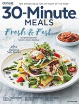 Cuisine 30-Minute Meals cookbook cover image